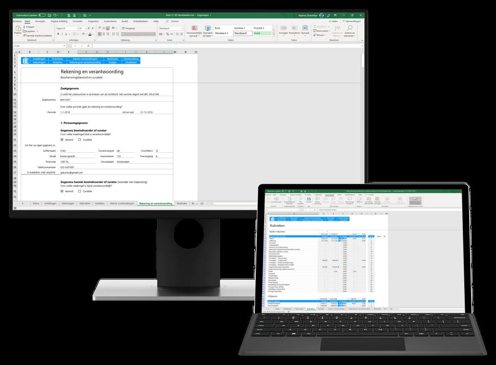 Bewindvoering in Excel